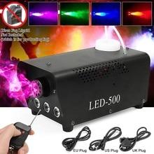 Mini máquina de névoa sem fio led 500w, máquina para fumo, efeito discoteca, dj, festa, natal com controle remoto, led