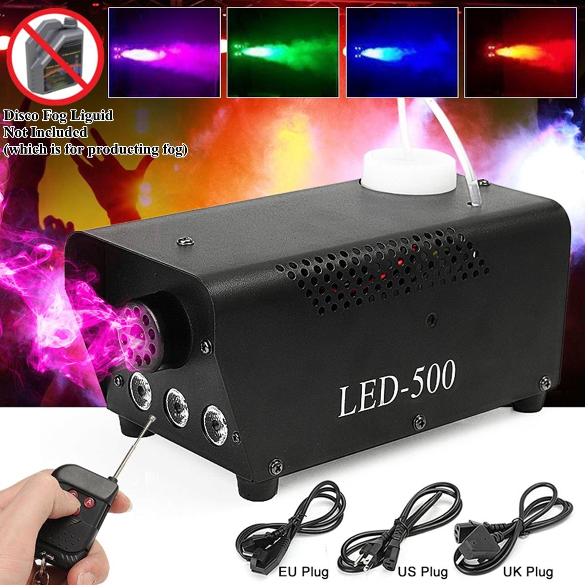 500W mgła/maszyna do dymu w/Remote RGB LED DJ miotacz impreza z dj-em rodzina piłka wypoczynek strony światło dym miotacz