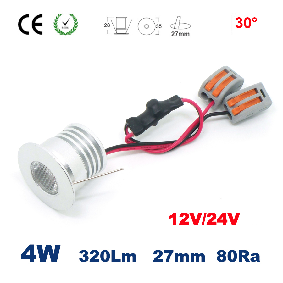 1W 2W 3W 4W COB 12V 24V Dc Mini Spot Lighting Indoor Embedded Cabinet Bed Room Spotlight CE