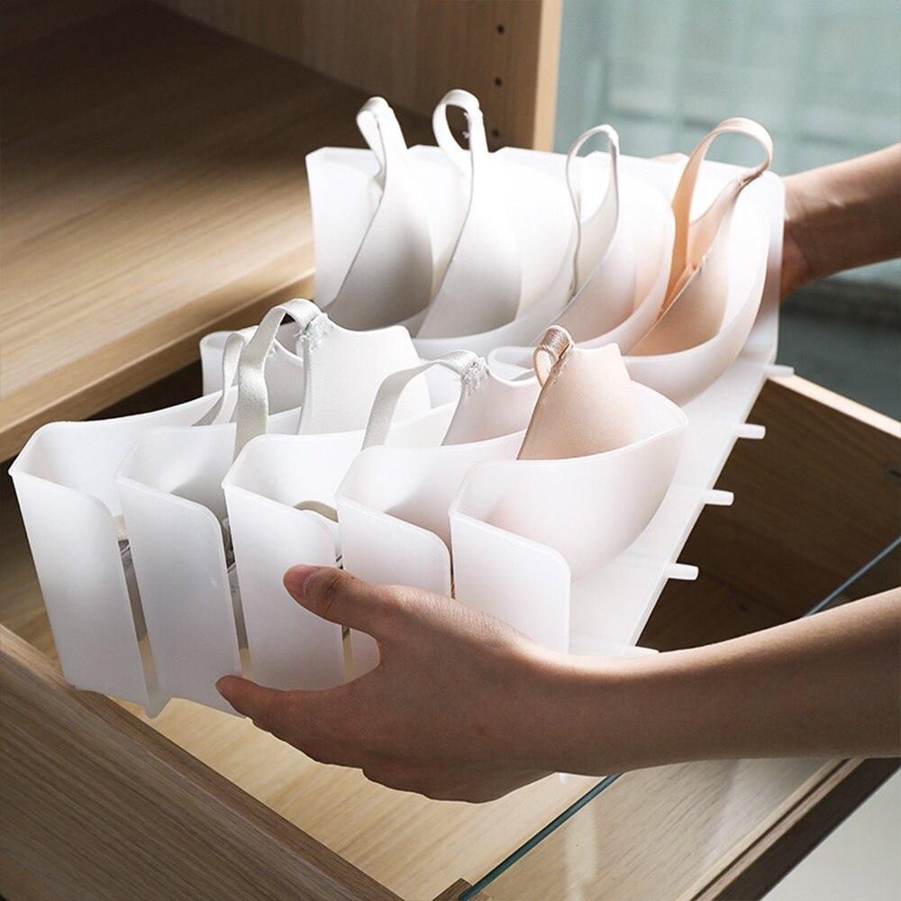 6Pcs/Set Bra Storage Box Bra Box Closet Underwear Organizer Drawer Divider Plastic Bra Underwear Storage Organizers High Quality