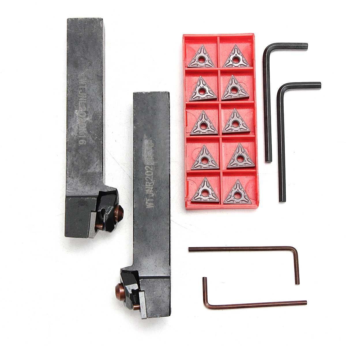 16Pcs/Set 20mm Shank Lathe Turning Tool Holder Boring Bar +Insert+Wrench WTJNR2020K16 WTJNL2020K16