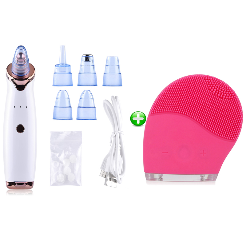 Acne Pimple Removal Vacuum Suction Blackhead Remover Face Deep Nose Cleaner T Zone Pore Facial Diamond Beauty Clean Skin Tool