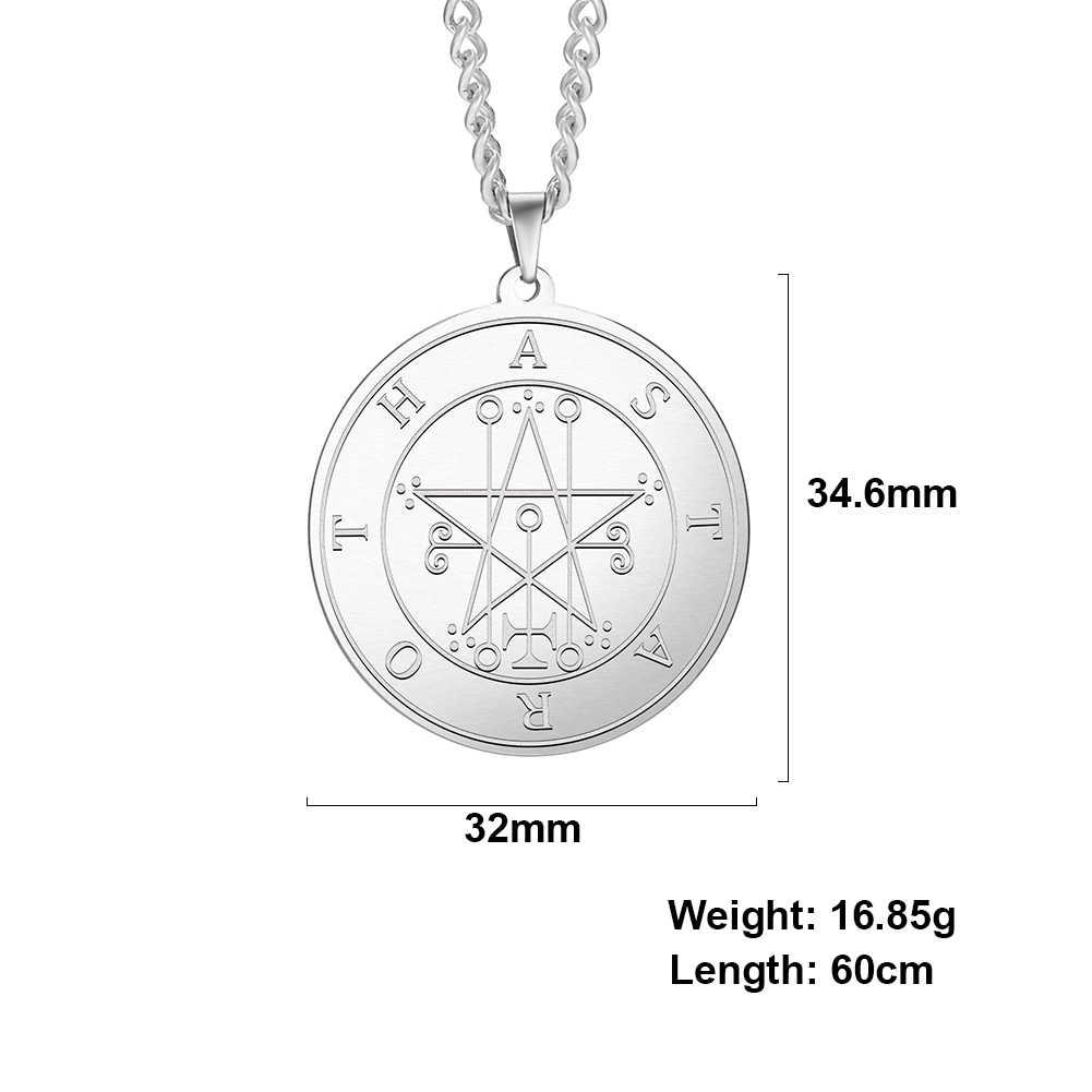 Dawapara potężny silny książę Astaroth-mniejszy klucz salomona pieczęć kabała wisiorek Amulet mężczyzn naszyjnik