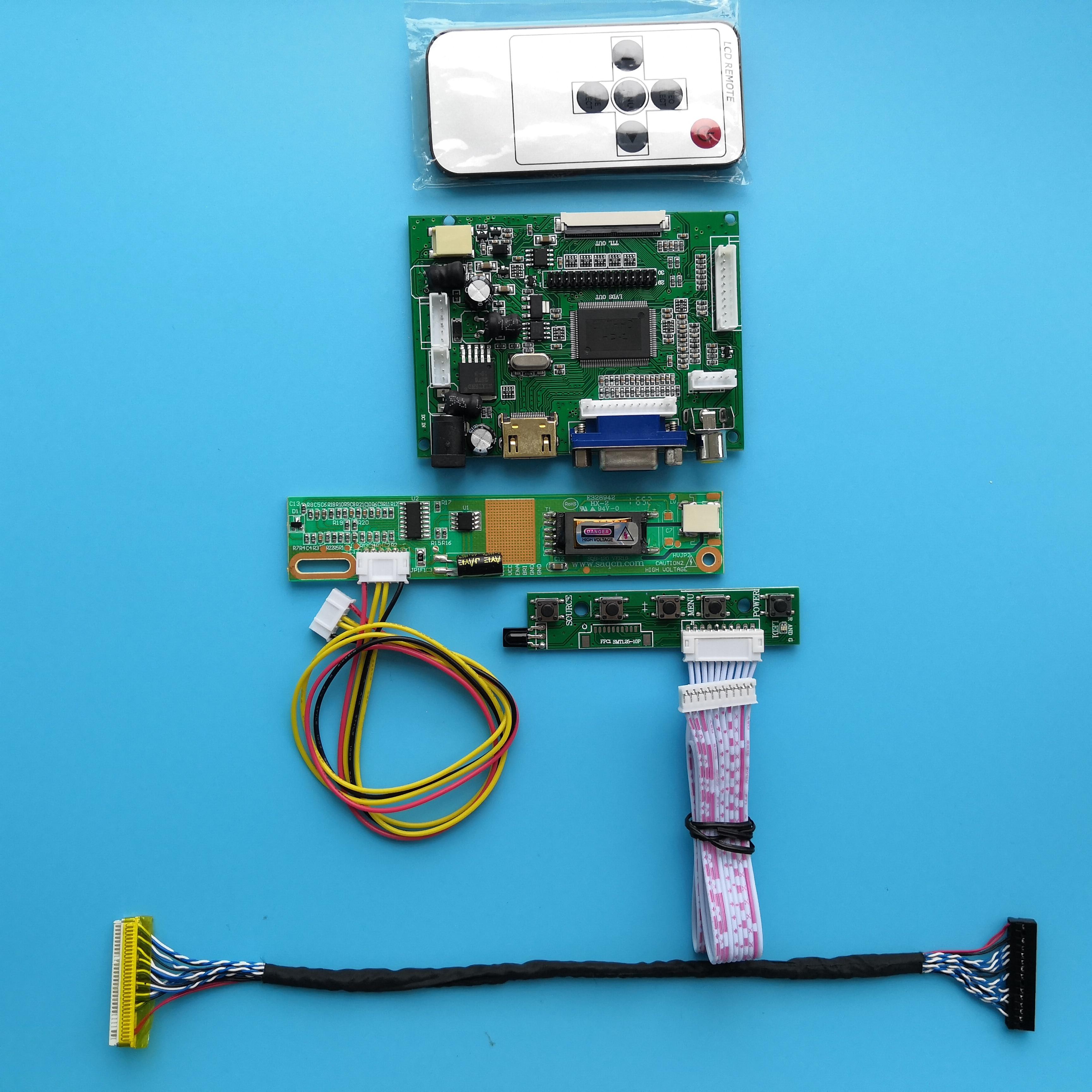 Display Controller BoardFor LTN154AT07 30pin LED HDMI Panel Kit 15.4