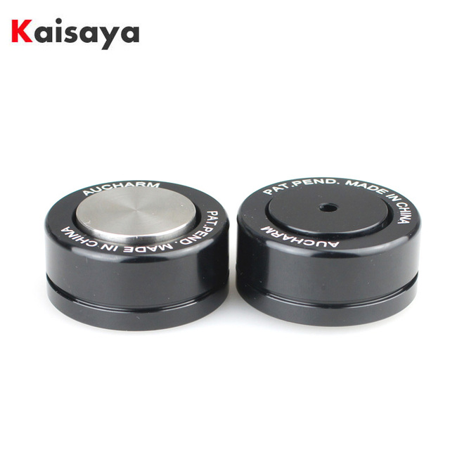 4pcs HIFI Speaker Amplificador de Áudio de Cerâmica esferas de Aço bola Rolar Anti shock Absorber Pé Pés Prego Almofada de Vibração base T0904