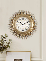 Luxury European Living Room Wall Clock Silent Creative Sun Clock Retro American Clock Luxury Wall Watch BB50WC