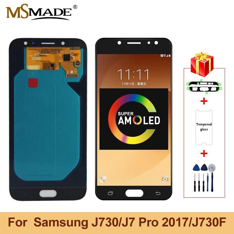 Original 5.5'' SUPER AMOLED LCD For SAMSUNG Galaxy J7 Pro 2017 J730 J730F LCD Display Touch Screen Digitizer For J7 2017 Screen