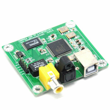 HiFi CM6631A Coaxial Fiber Optic Output DAC Decoder Board 32bit 384K USB to SPDIF deluxe dual ak4497eq 32bit 384k hifi usb dsd dac w remote control dual ak4497 dac tweaked