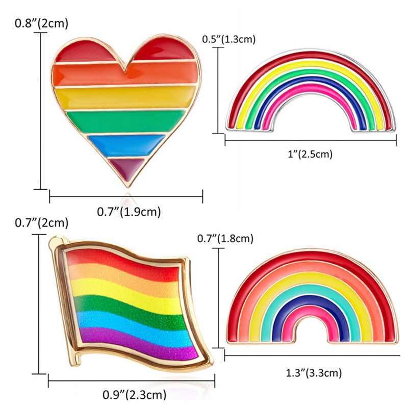 Cuore Arcobaleno Bandiera Nazionale a Forma di Arcobaleno Spille Spilla della Donna Del Fumetto Mini Arcobaleno Spille Spilli Distintivo Del Collare Dei Monili del Regalo