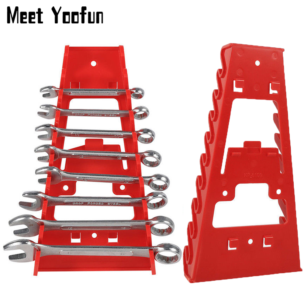 9 Slot Wrench Holder Plastic Spanner Organizer Sorter Holder Tray Socket Craftsman Wrench Storage Rack Tools Wrenches Keeper