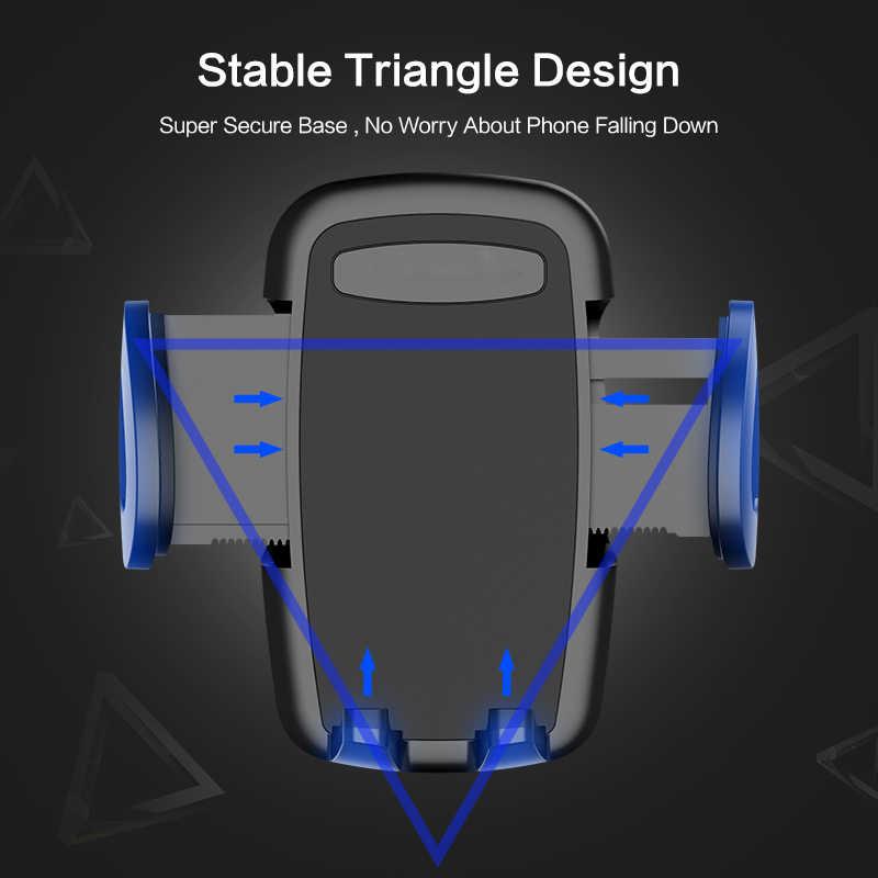 Один щелчок выпуска Автомобильный держатель для телефона универсальный с вентиляционными отверстиями крепление автомобильные держатели подставка поддержка для iPhone XS Max XR Xiaomi samsung huawei