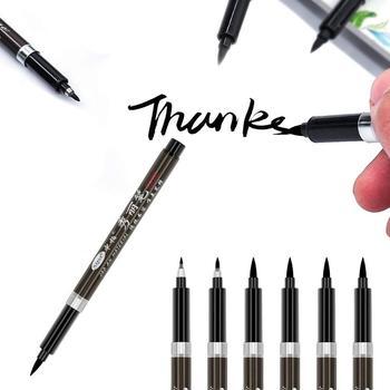 цена на 3pcs Calligraphy pen set Fine Medium Brush for signature drawing hand writing letter art Chinese words Stationery school F867