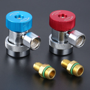 Image 2 - 1 Pair High Low Adapter Connector R134A AC Air Condition Adjustable Quick Coupler Car Accessories