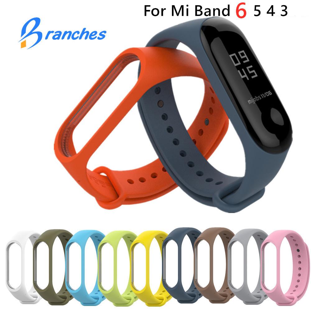 Bracelet for Xiaomi Mi Band 6 5 4 3 Sport Strap watch Silicone wrist strap For xiaomi mi band 3 4 5 bracelet Miband 4 3 5 Strap