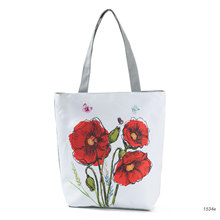 Grocery-Bags Eco-Friendly Tote Reusable Floral Cheap Kitchen High-Quality