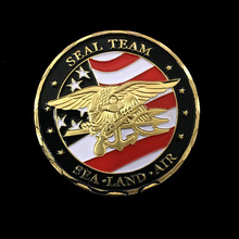 Exquisite Souvenir Coin US Sea Land Air Seals Team Gold Plated Metal USA Department Of The Navy Military Challenge Gold Coins single custom coins low price us army challenge coin metal milirary coins hot sale american coin fh810251