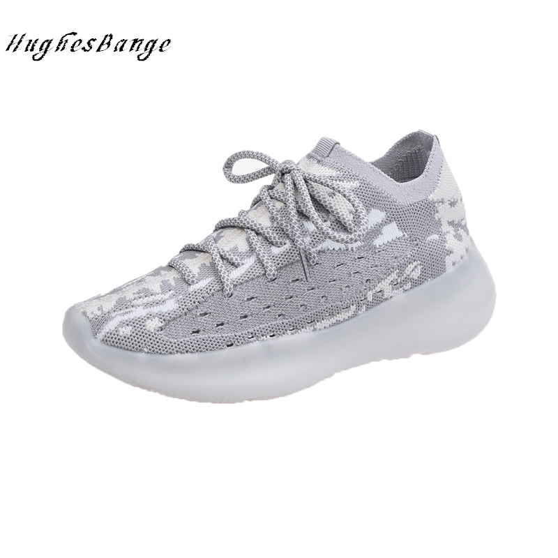 sneakers women shoes new wild increase sneakers Lace up Non-slip, wear-resistant, breathable, wrapping Camouflage thick bottom