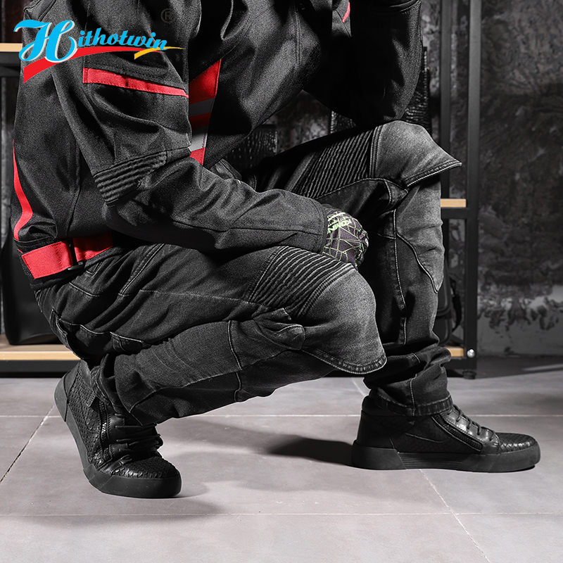 lowest price 2020 New 718 Motorcycle Pants Men Moto Jeans Protective Gear Riding Touring Motorbike Trousers Motocross Pants Moto Pants S-5XL