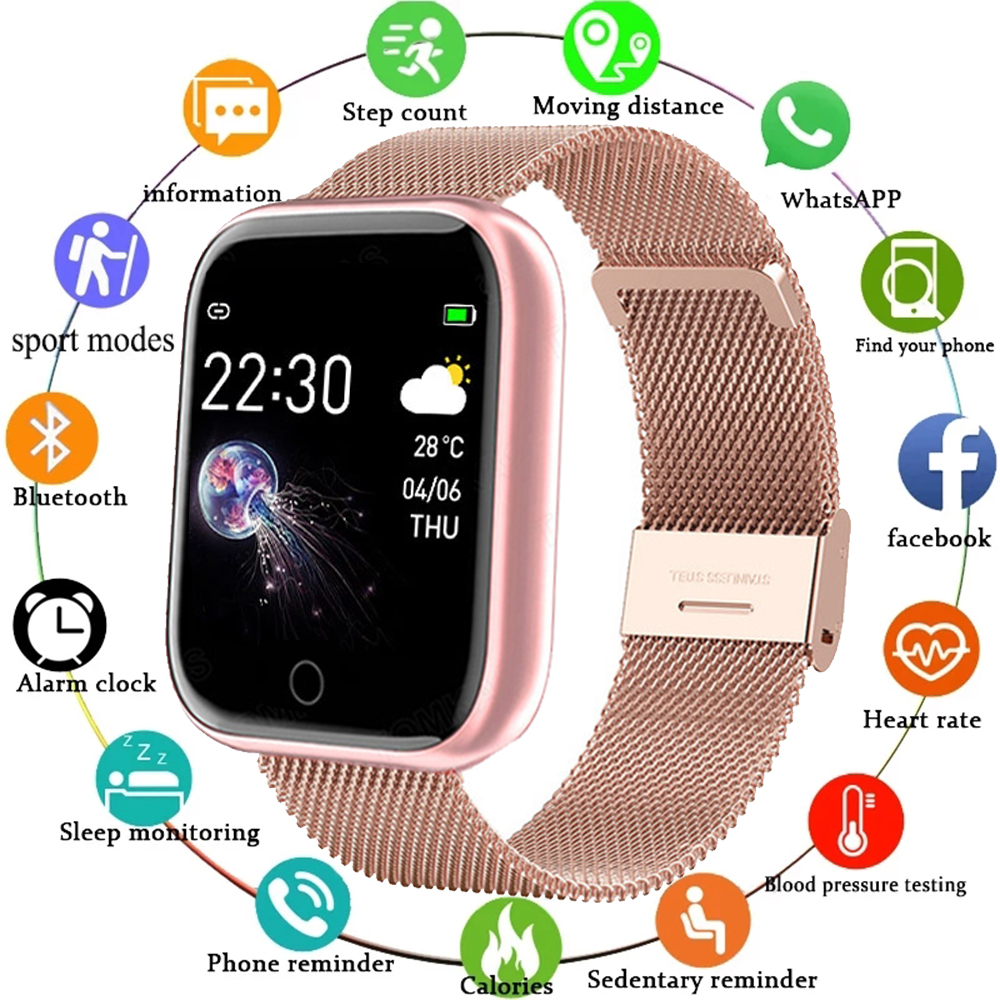 I5 Sport Smartwatch donna uomo frequenza cardiaca pressione sanguigna Fitness Tracker bambini Smart Clock per Android IOS Smart Watch PK IWO P80 1