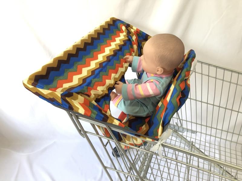 [Материал, имитация шелка] 3 цвета, качественный чехол для покупок и стульчик для кормления для младенцев и малышей - Цвет: colorful wave