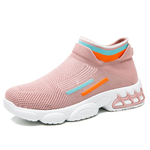Sock Sneakers Basket Platform Shoes Casual-Shoes Women Trainers Zapatillas Mujer Air-Mesh