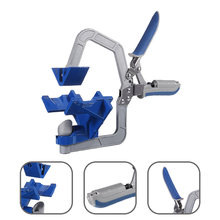 Upgrade auto-ajustável 90 graus ângulo direito clipe braçadeira carpintaria braçadeira alicate braçadeira rápida quadro de imagem clipe de canto ferramenta de mão