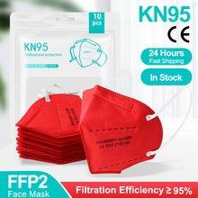 Mascarilla FFP2 KN95 desechable transpirable, máscara filtro facial, protección contra el polvo, tapabocas