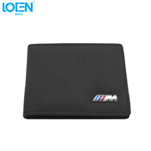 LOEN 1PC Leather Auto Driver License Bag Car Driving Documents Card Credit Holder Purse Wallet Case For bmw style(China)