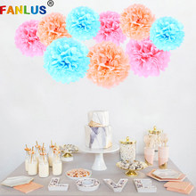 1pcs Wedding Decoration Events Accessories Pom Poms Tissue Paper Pompom Ball Birthday Party Baby Shower Decorations Supplies(China)