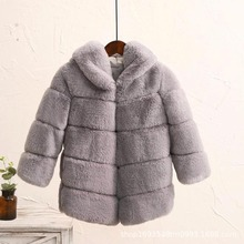 цены New Winter Girls Fur Coat Elegant Thick Warm Baby Girl Faux Fur Jackets Coats Parka Kids Outerwear Clothes Kids Coat