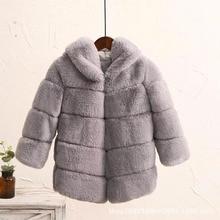 цена на New Winter Girls Fur Coat Elegant Thick Warm Baby Girl Faux Fur Jackets Coats Parka Kids Outerwear Clothes Kids Coat