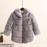 New Winter Girls Fur Coat Elegant Thick Warm Baby Girl Faux Fur Jackets Coats Parka Kids Outerwear Clothes Kids Coat