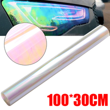 100x30cm Auto Car Light Headlight Taillight Tint Vinyl Film Sticker Tint Film Chameleon Oil Slick Sticker Easy Stick 10 colors 30x60cm 11 81x23 62 inch auto car light headlight taillight tint vinyl film sticker motorcycle whole car decoration