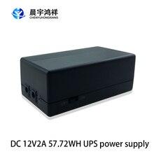 12v 2a 57.72w segurança em espera fonte de alimentação ups ininterrupto backup fonte de alimentação mini bateria para câmera roteador
