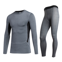 Mens Compression Quick Dry Tracksuit for Men Fitness Tight Long Sleeve T-Shirt Pant Men'S Suit Gym Running Demix Sport Suit yd new compression tight basket soccer tracksuit men training fitness long sleeve shirt pants male gym running set sport suit