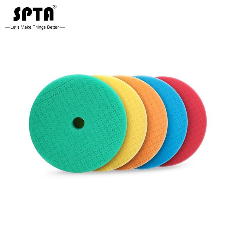 SPTA 6 Inch Sponge Polishing Pads For 5 Inch DA/RO Polisher Car Polish Buffing Pads Abrasive Sponge Polishing Disk Wholesale