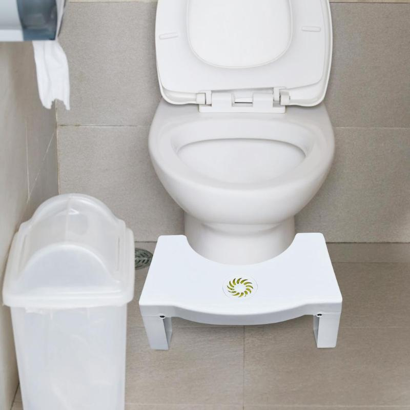 Toilet Footstool Plastic Foldable Squatting Stool Anti Constipation Bathroom Auxiliary Tool for Children|Bathroom Chairs & Stools| |  - title=