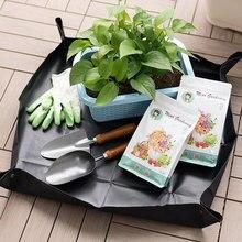 Cushion Transplanting-Pot Gardening-Pad Soil-Flower Foldable Waterproof Lock Basin Land-Mat