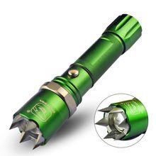 LED Flashlight Telescopic Focusing IPX6 Waterproof Rechargeable Aluminium Alloy Torch Lamp Lighting Tool