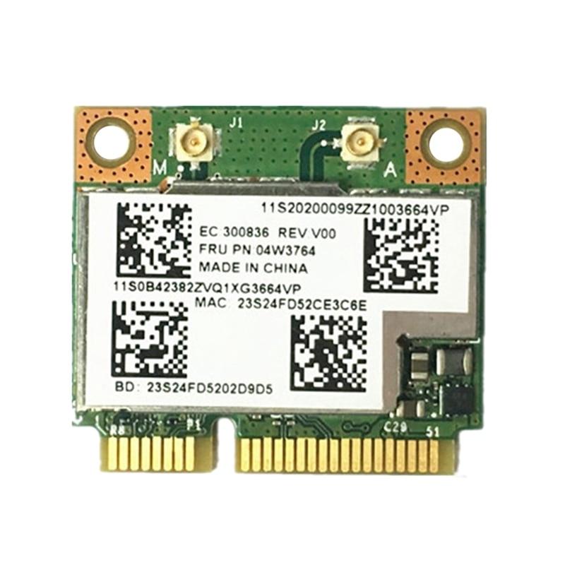 Компактная мини-карта BCM943228HMB 04W3764, Wi-Fi, беспроводная, Bluetooth 4,0, PCI-E, для Lenovo E130, E135, E330, E335, E530, E535, E430