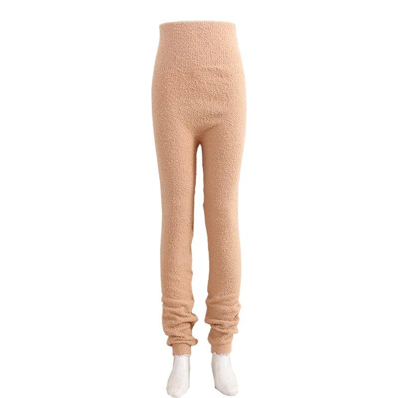 Теплые штаны из микрофибры, эластичные брюки для женщин, сохраняющие тепло, домашние штаны в физиологический период для увеличения - Цвет: K