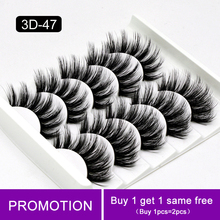 5 Pairs Eyelashes 3D Soft Natural Mink Lash Hair False Eyelashes Handmade Wispy Fluffy Long Lashes Makeup Faux Eye Lashes Cilios