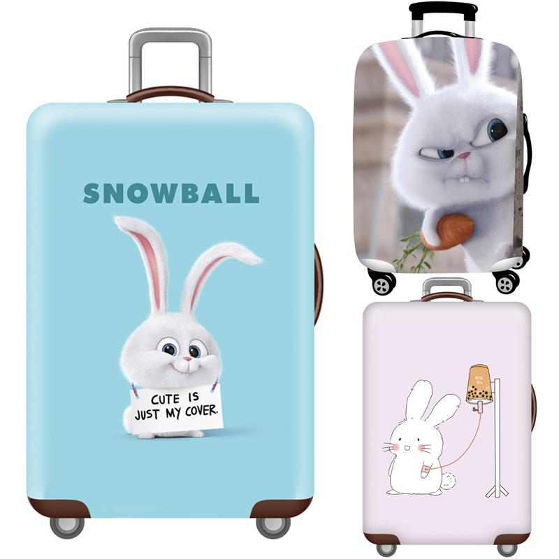 Rabbit Elastic Luggage Cover,Travel Accessories For 18-32 Inch Suitcases,Trolley Case Covers Baggage Trunk Dust Protection Cover