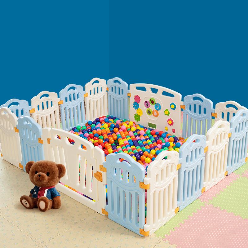 Colorful Baby Crib Fence Indoor Household Shatter-resistant Children Game Protection Infant Crawling Oceans Ball Pool