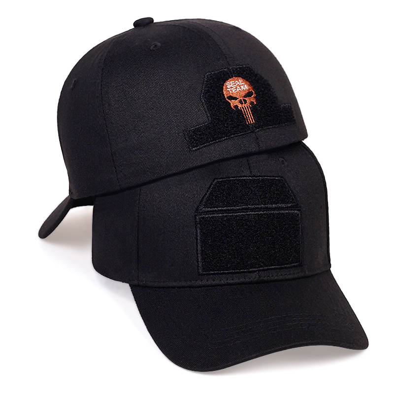 High Quality Patch Embroidery Baseball Cap Fashion Rear Seal Punisher Embroidery Dad Hat Outdoor Casual Hats Unisex Wild Caps