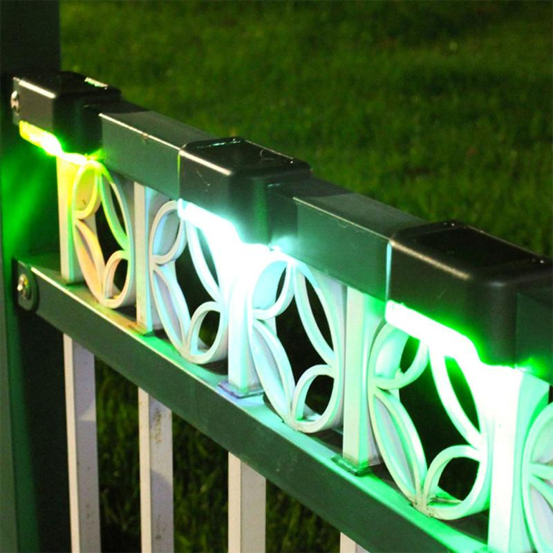 4pcs Solar LED Stair Lamp Waterproof Garden Courtyard Outdoor Fence Light Support Dropshipping