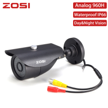 ZOSI 960H BNC Cable Analog Bullet CCTV Camera IR Camera Nightvision Waterproof IP66 Indoor Outdoor CCTV Video Camera for DVR Kit стоимость