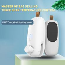 Handheld Heat Seal Rechargeable 3-Heat Snack Bag Sealer 2-in-1 Fast Re-sealer with a Blade Thermal Sealer cheap CN(Origin) 2025309 ABS plastic silicone copper ceramic nickel Eco-Friendly Bag Clips heating sheet DC 5V 1A plastic sealer