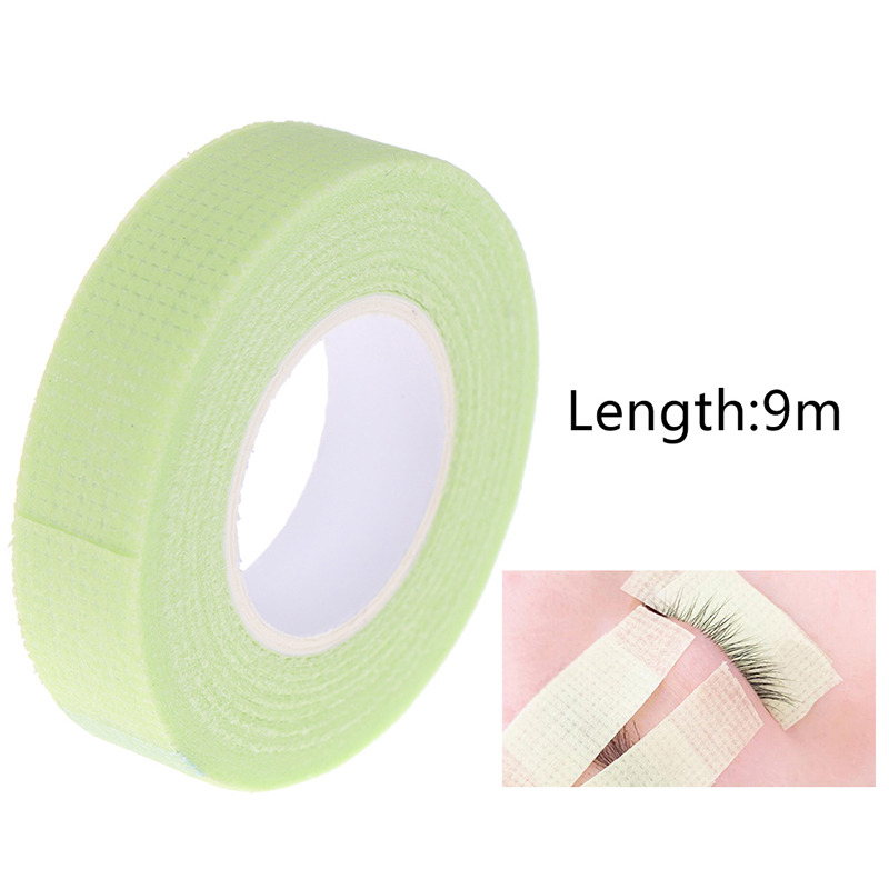 Green Medical Non-woven Fabric Eyelash Extension Supply With Holes Breathable False Eyelash Extensions Makeup Tools Newest 1Pcs