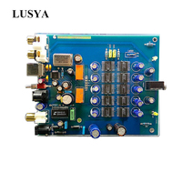 Lusya HIFI TDA1543*8 Decoder USB fiber coaxial DAC decoder board OTG  for hifi finished board T0758